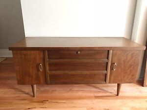 Mid century modern chest with walnut finish
