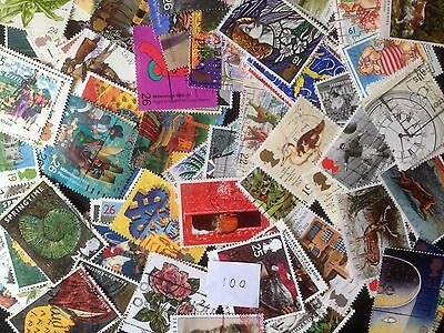 100 Different Great Britain Commemoratives 1990-1999 Stamp Collection