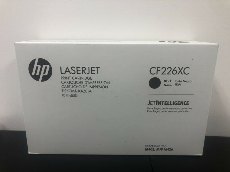 HP CF226XC CF226X (26X) High Yield Black Toner Cartridge Genuine OEM Original