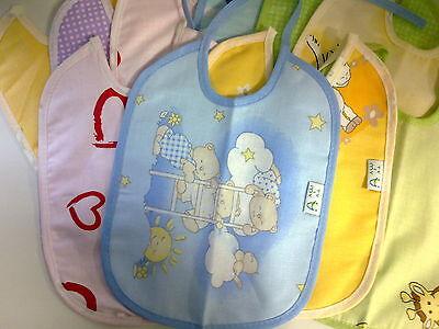 10er Set Babylatz Baby Lätzchen Neu