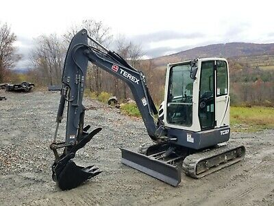 2015 Terex Tc37 Excavator Enclosed Cab Hydraulic Thumb Low Hours 3 Buckets Nice