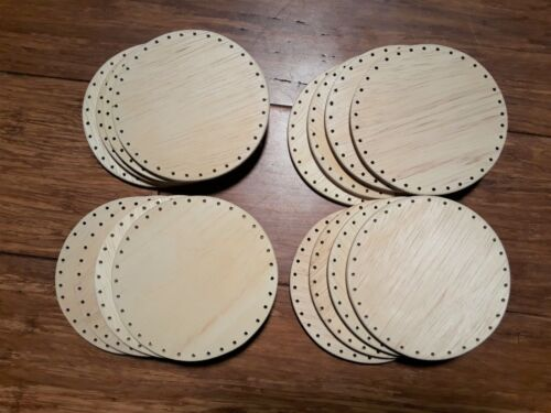 """16 Pack Basket Bottoms 4"""" inch Circles for Pine Needle baskets and more"""