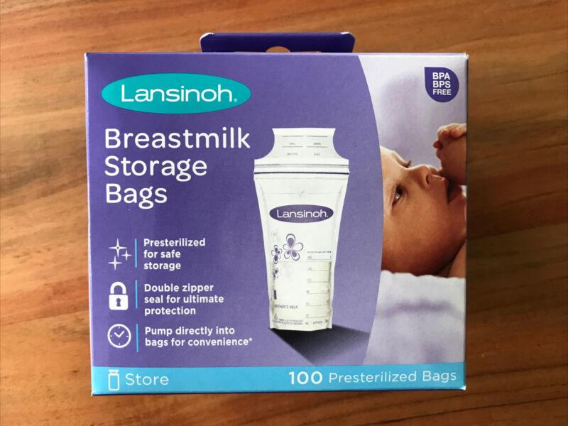 Lansinoh Breastmilk Storage Bags 100 Count Bags Store Freeze
