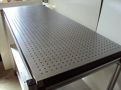 Crated Newport 5 Optical Breadboard Table Roll-around T-slot Bench Shelves