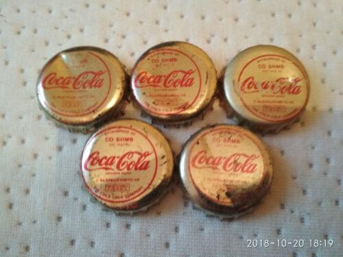 Coca cola caps - 5 very old and rare - 1983