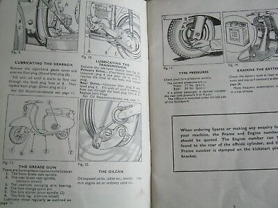 BSA SCOOTER INSTRUCTION MANUAL 1961 INC CONTROLS MAINTENANCE ELECTRICAL RIDING