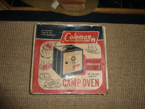 NEW Vintage Coleman Fold Away Camp Oven
