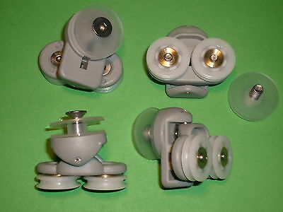 Shower Door Rollers, Wheels, Runners. 4 x SR20 for B&Q and others for sale  Shipping to Ireland
