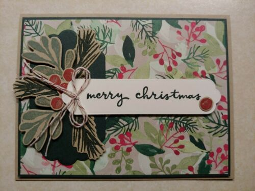 Stampin Up PAINTED SEASON * MERRY CHRISTMAS *  HOLIDAY CARD KIT, Holly Berries**