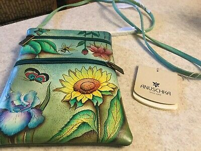 anuschka hand painted leather handbags new Crossbody