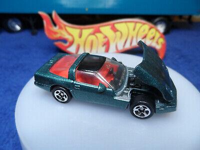 Hot wheels blister pull * '80's Corvette * green * sp5 wheels * opening hood