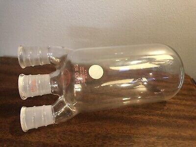 Vintage Pyrex 1000 Ml Flask 2430 Round Bottom 3 Necks Old Logo 10 Mint Rare