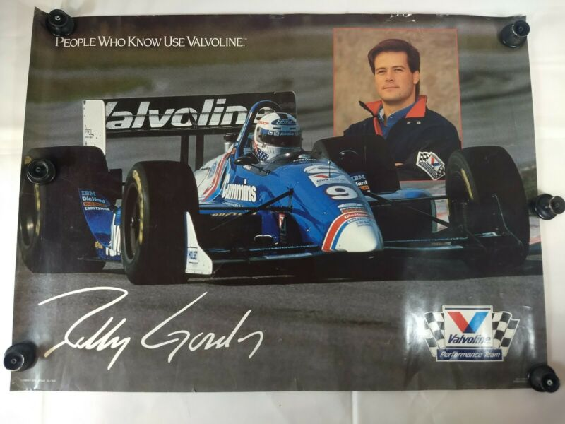 1994 Advertising Poster Valvoline Performance Team Robby Gordon Indy Car Driver