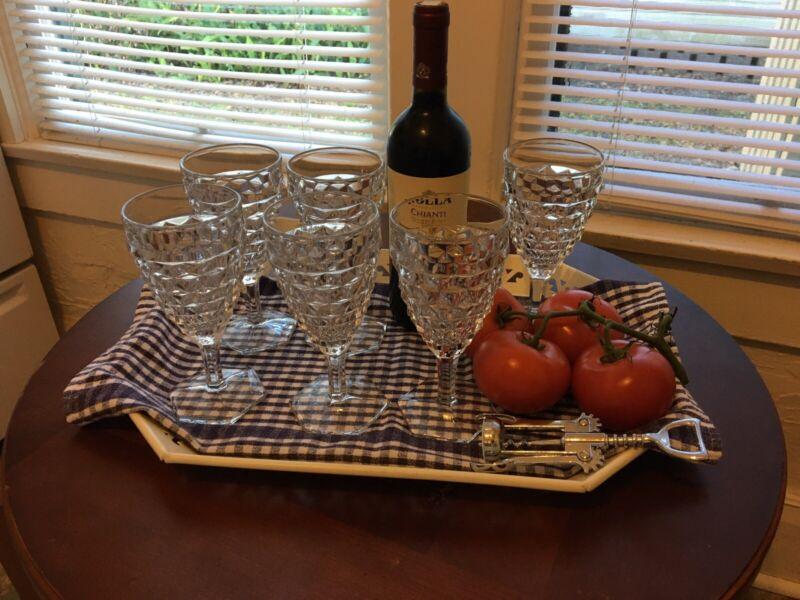 Glassware Fostoria American glass Wine Glass 6 Pieces