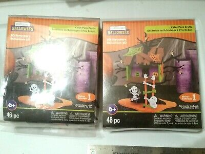 Creatology Foam Craft Kit Lot of 2 Halloween crafts kids 3-d haunted tree - Creatology Halloween 3d Foam Kit
