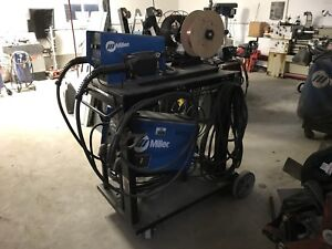 Miller XMT 450 with dual wire feed set up
