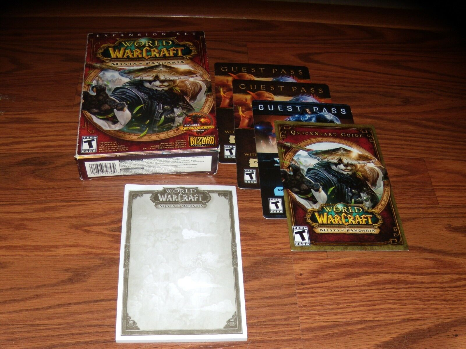 World Of Warcraft Mists Of Pandaria With Box And Pictured Items - No Game - $2.00