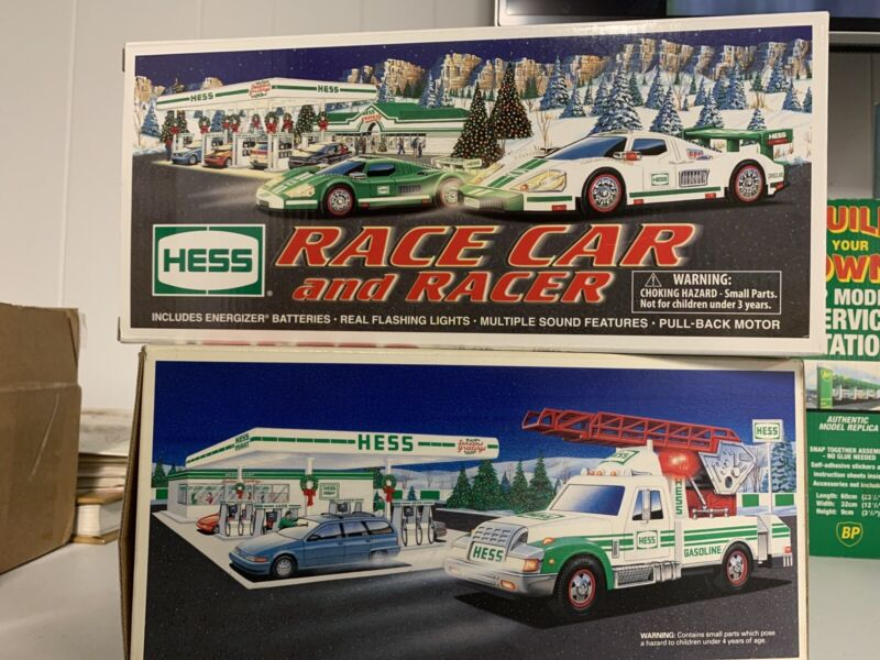 1 Lot of Hess Collectible Vehicles - 2009 Race Car / Racer & 1994 Rescue Truck