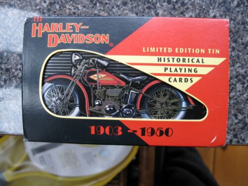 Harley Davidson Officially Licensed Ltd. Ed. Tin & Historical H-D Playing Cards