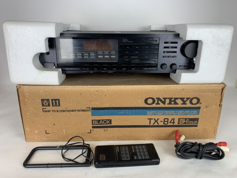 Onkyo TX-84 Quartz Synthesized Tuner Amplifier w/ Remote Tested!