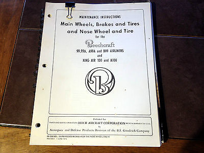 Beech 99 & King Air 100 Wheels Brakes Tires manual