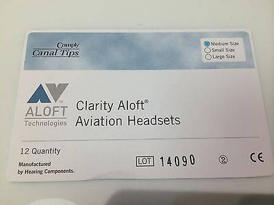 NEW GENUINE CLARITY ALOFT COMPLY Medium Canal Tips 6 pairs Free ship tracking #