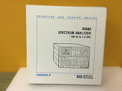 Hp Agilent 08568-90012 8568a Analyzer Operating Service Manual Volume 4