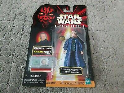 Star Wars Episode 1 - Senator Palpatine Action Figure w Commtech Chip 1998 -