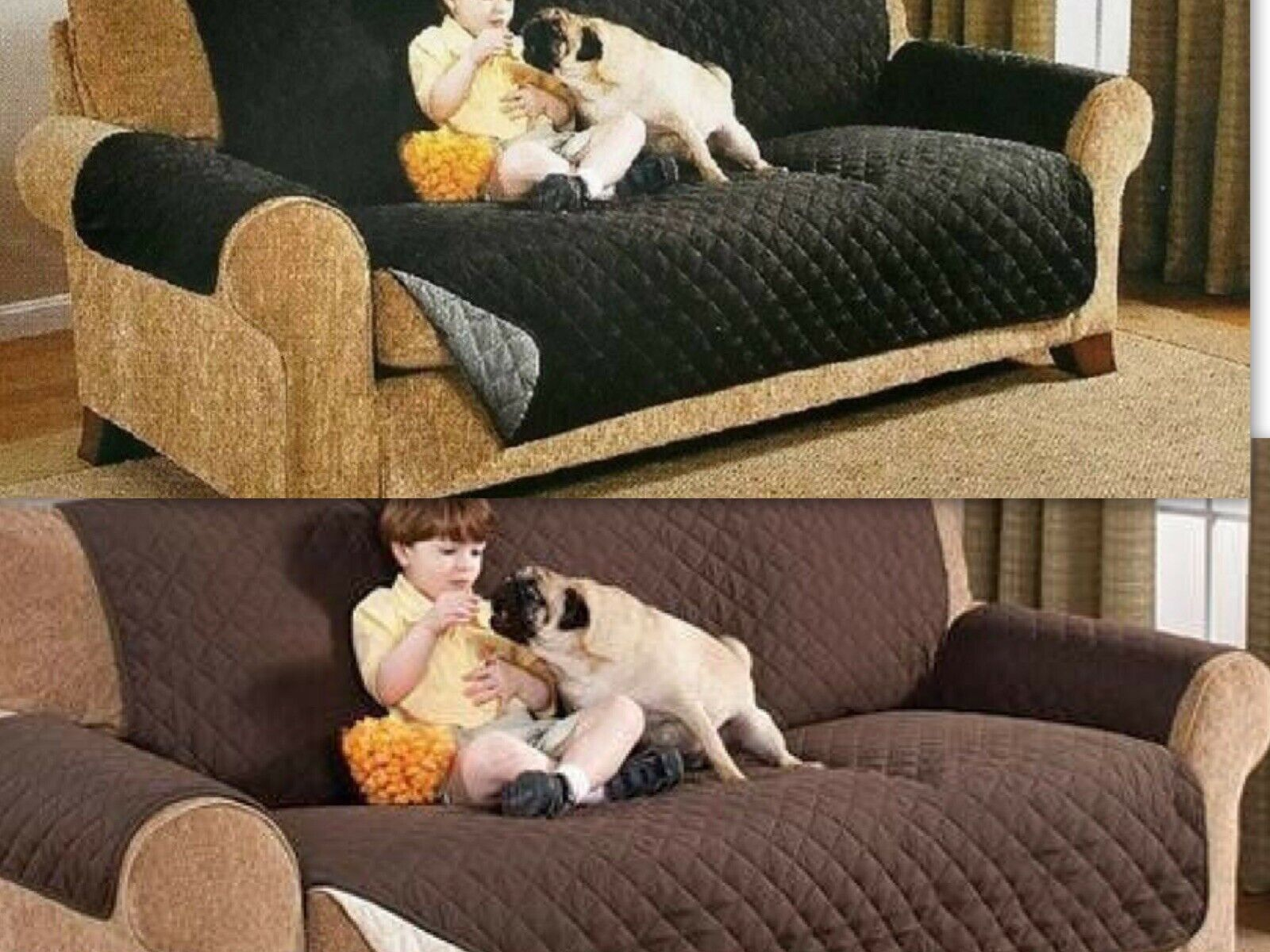 Reversible Sofa Covers For Pets Furniture Protector Sofa 75 X110 Slipcovers For Sale Online Ebay