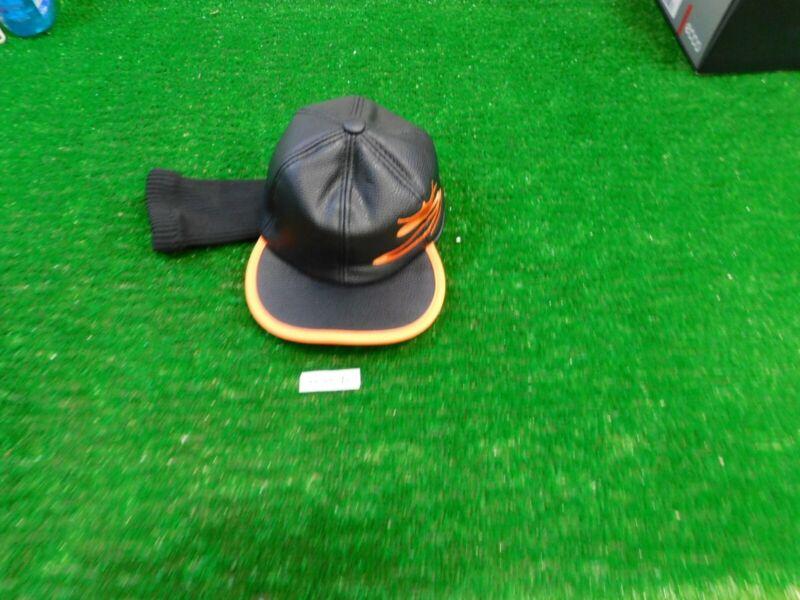 Cobra Rickie Fowler King Jr Black/Orange Flat Brim Hat Driver Headcover New