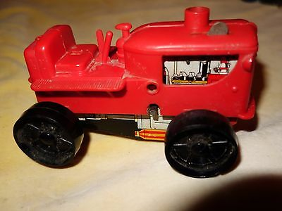 Vintage Mar Toys small wind up tractor plastic and tin A/F not working