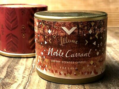 Illume Noble Currant Tin Candle 3 oz. New Candle, Tin shows some wear  MSRP $12