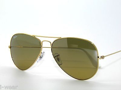 BEST DEAL*RAY BAN SunglaSSeS 3025 GOLD/BROWN MIRROR SILVER 001/3K AVIATOR