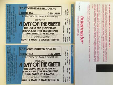 Day on the Green: Living End at Mt Duneed, 2 x FRONT GA tickets