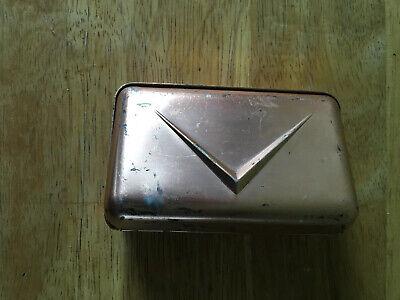 Vintage Retro Mid Century Aluminum Copper Metal Magnetic Dashboard Ashtray W/Lid