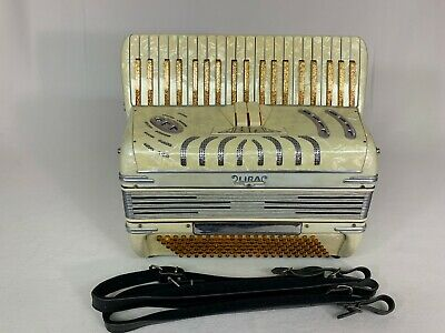 "Lira Italian piano accordion lady/children size-16"" keyboard 2/4 reeds"