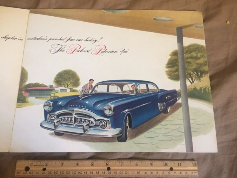 1951 Packard 400 Patrician Large Prestige Color Catalog Brochure Prospekt