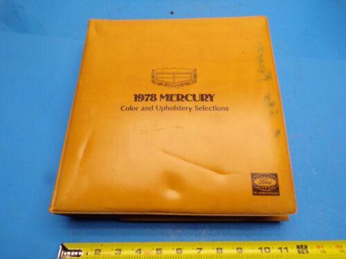 1978 Mercury Color & Upholstery Car Dealership dealer Sales book catalog