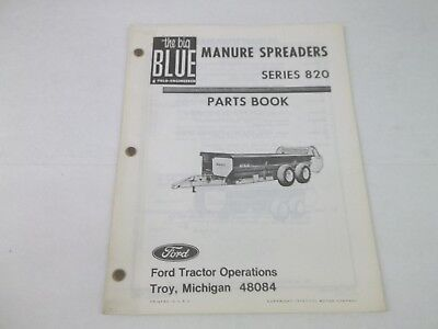 Ford Manure Spreader Series 820 Parts Book