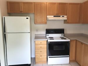 Kitchen cabinets, counter top and appliances