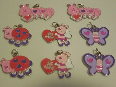 Valentines Crafts For Kids (8~VALENTINE LOVE ENAMEL CHARMS JEWELRY FINDING~SCRAPBOOKING~KIDS)