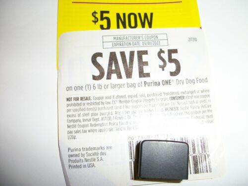 4 X Save $5.00 on Purina One Dry Dog Food 6 lb bag