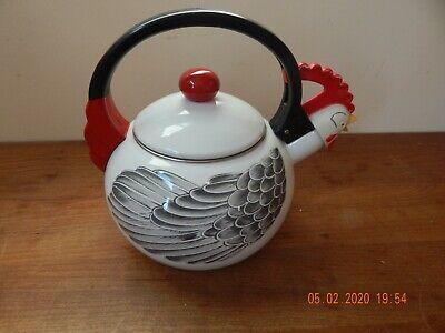Vintange M Kamenstein Rooster Chicken Enamel Teapot