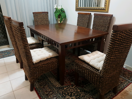 Balinese Dining Room Set Brand New Cushions Make Me An Offer
