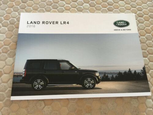 LAND ROVER LR4, LR4 HE & LR4 LANDMARK OFFICIAL PRESTIGE SALES BROCHURE 2016 USA