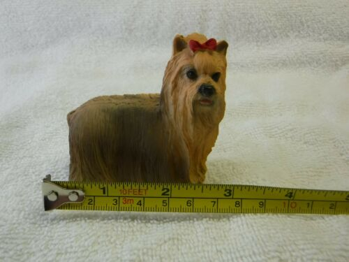 Yorkshire Terrier Yorkie Dog Red Bow Hand Painted