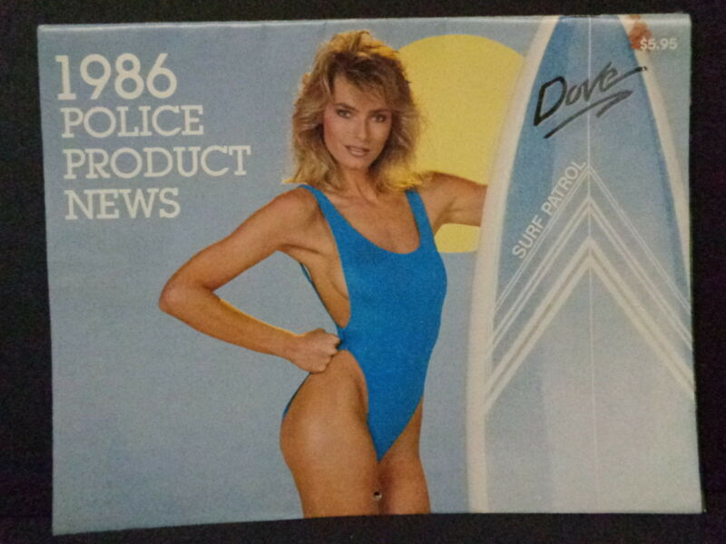 1986 POLICE PRODUCT NEWS CALENDAR SCANTILY CLAD MODELS, DEFUNCT MAGAZINE