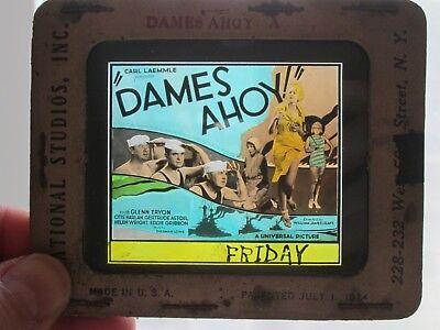 Dames Ahoy     -Original 1930  Movie Glass Slide - Glenn Tryon
