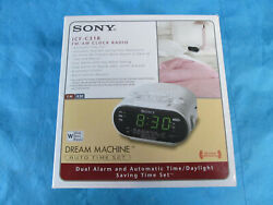 SONY AM/FM RADIO/ALARM CLOCK ELECTRIC 5 FOOT CORD ICF-C318