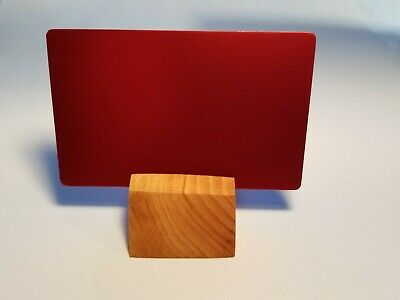 Thick Blank Metal Business Cards Laser Engravable Red